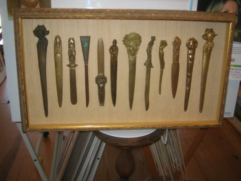 letter opener shadow box
